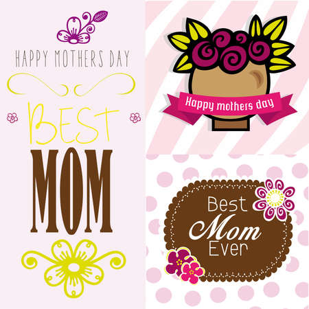 best mom day Vector