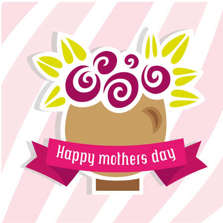 flowers happy mom day Vector
