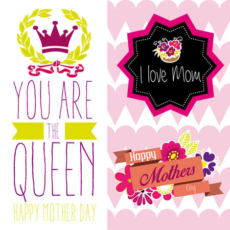you are the queen mom Vector