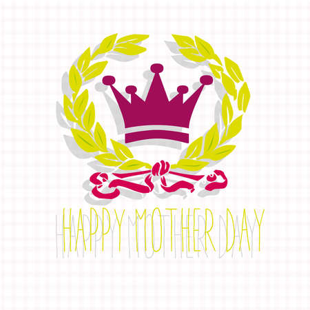 happy mother day Vector