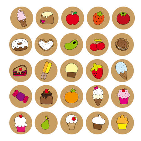 snack icons Illustration