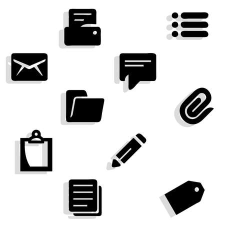 object complement: Working documents icons Illustration