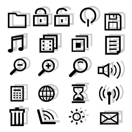Files and computer icons Vector