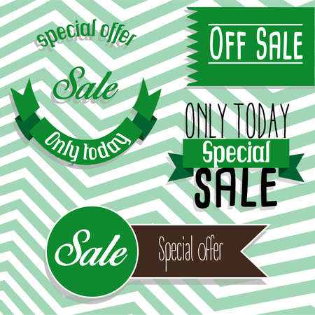 40 s: Special offer green brown Illustration