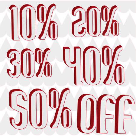 40 s: offering 10% 20% 30% 40% 50% 3D