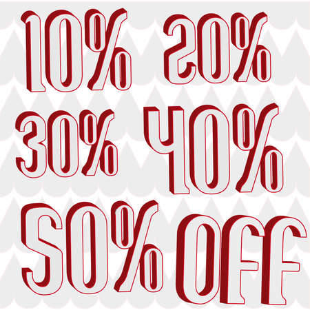 offering 10% 20% 30% 40% 50% 3D