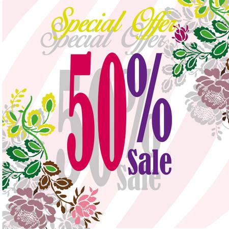 40 s: 50% sale Illustration