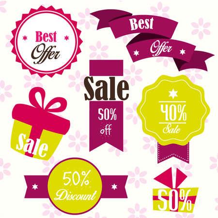 40 s: gift offer Illustration