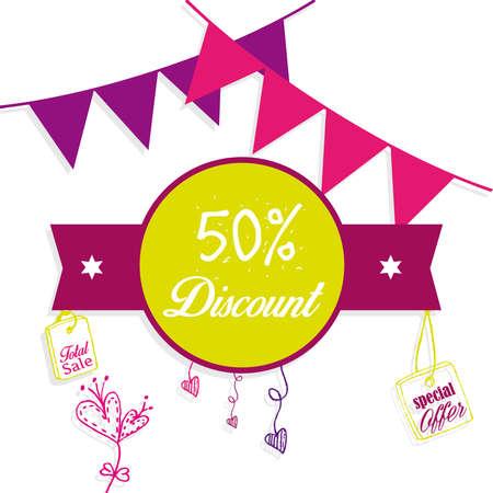 festones: 50% de descuento con festones Vectores