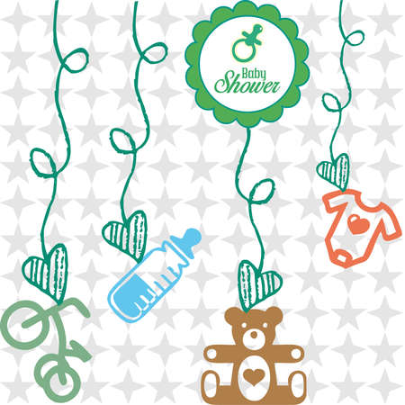 baby shower gifts Vector