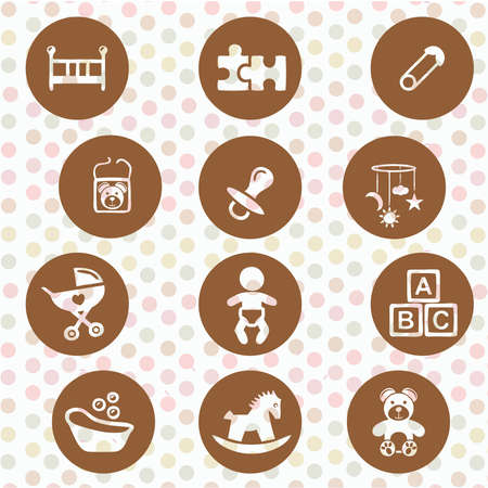 Several icons babies