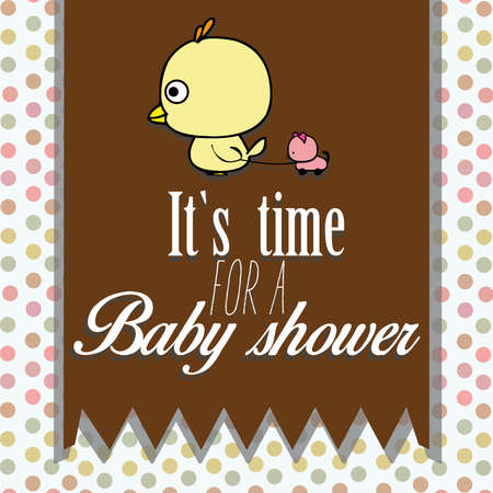 it is time to baby shower baby chick