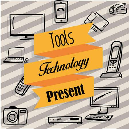 tecnology: new tecnology Illustration