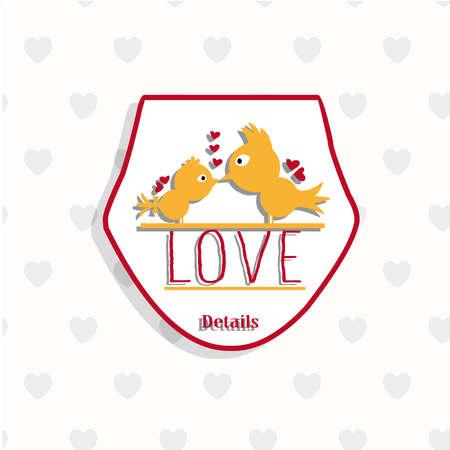 details: Details of love logo image Illustration