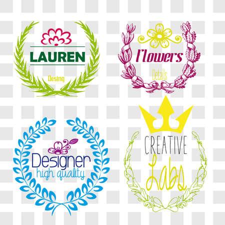 Several colorful logos Ilustração