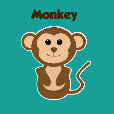 Zoo Monkey sticker