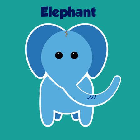 Zoo Elephant sticker Фото со стока - 50432212