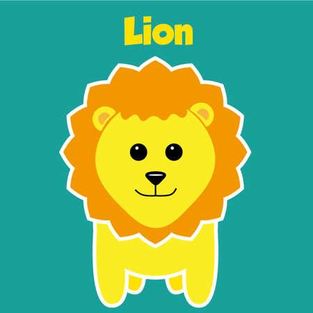 illustrators: Zoo Lion sticker