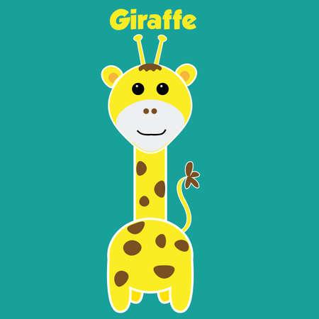 Giraffe zoo sticker Фото со стока - 50432223