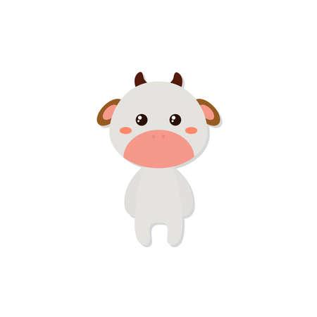 Leuke cartoon koe