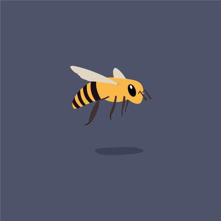 Vector illustration honey bee. Ilustrace