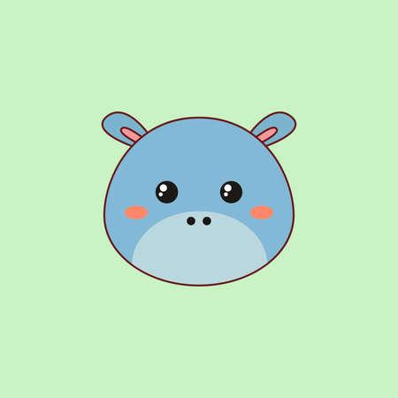 Cartoon Hippo Face