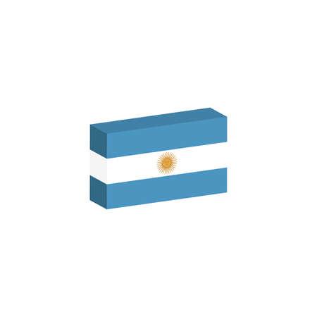 3D 아이소 메트릭 플래그 아르헨티나의 나라의 그림