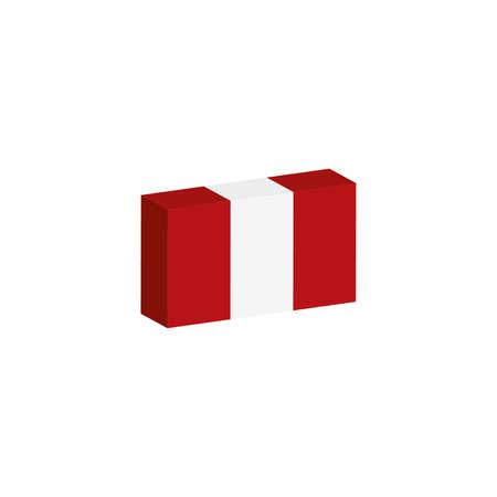 3d isometrische vlagillustratie van het land van Peru Stock Illustratie