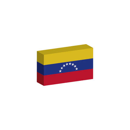 3D isometric flag Illustration of the country of Venezuela