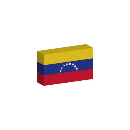 3D isometrische vlag Illustratie van het land van Venezuela