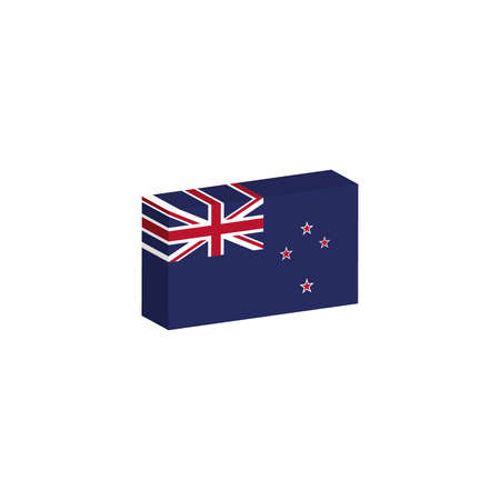 3d isometric flag illustration of Australia country