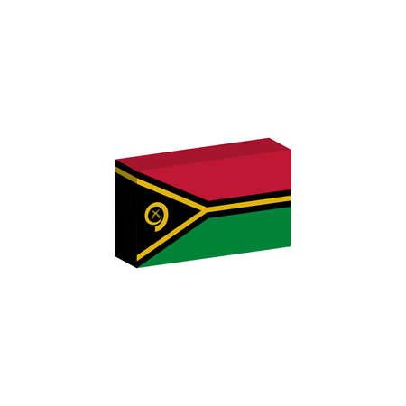 3D isometrische vlag Vanuatu-land
