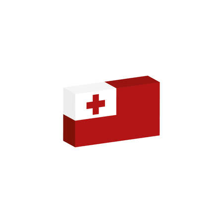3D flag of tonga country