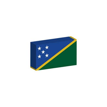 3D isometrische vlag Illustratie van het land van de Salomonseilanden Stock Illustratie