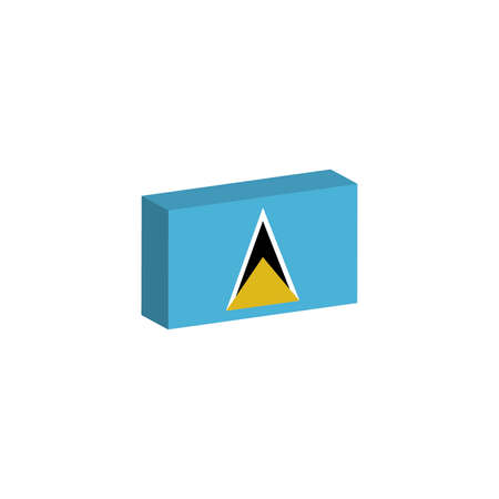 3d isometric flag illustration of Saint Lucia country