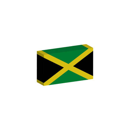 3d isometric flag Illustration of the country of Jamaica Иллюстрация