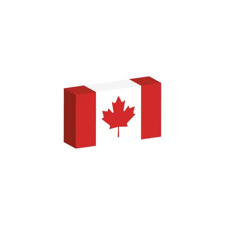 3d isometrische vlag illustratie van het land van Canada