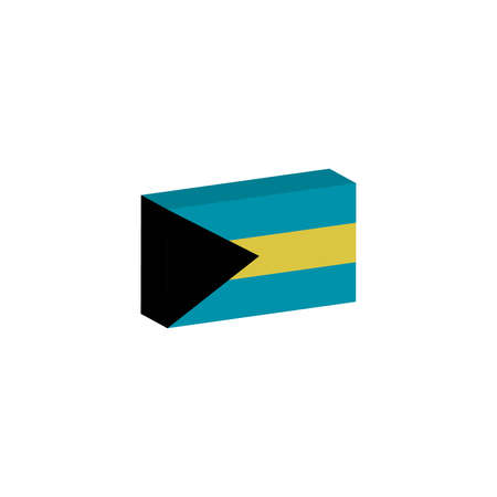 3D isometric banner Illustration of Bahamas country