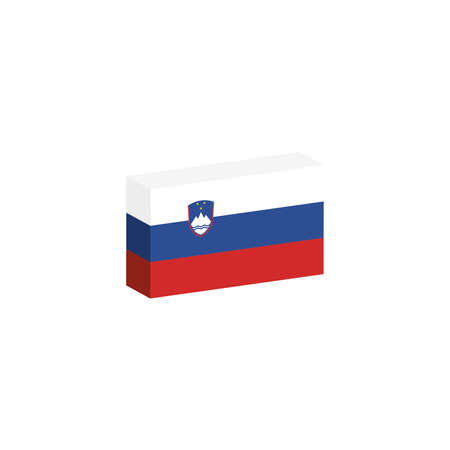 3D Flag of Slovenia Illustration
