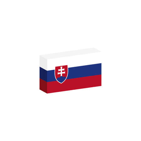 3d isometrische vlag van het land Stock Illustratie
