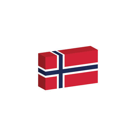 노르웨이 국가의 3D 국기 일러스트