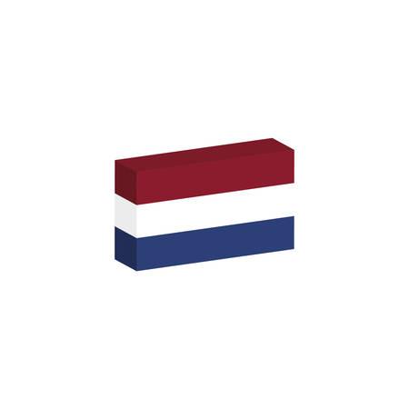 3D vlag van het land van Holland Stock Illustratie