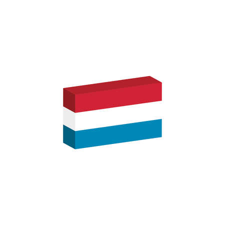 3D flag of the Luxembourg country