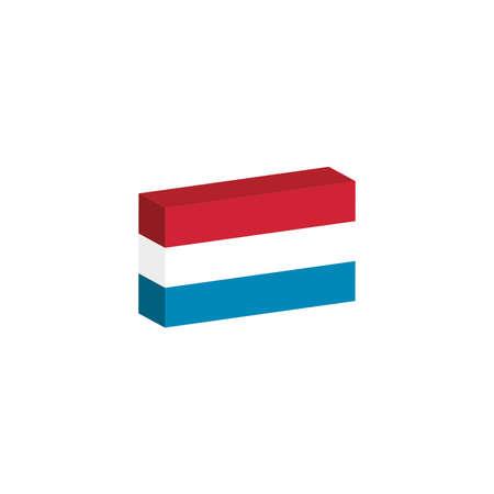 3D-vlag van het Luxemburgse land