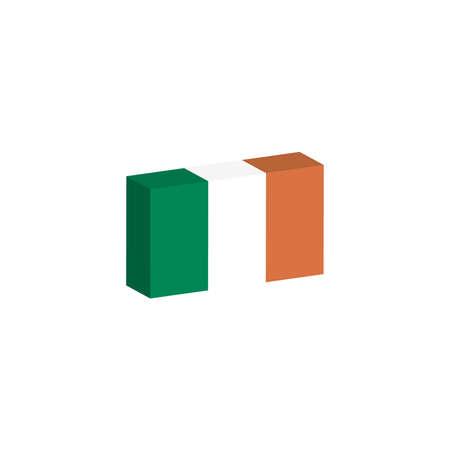 3D flag of Ireland Çizim