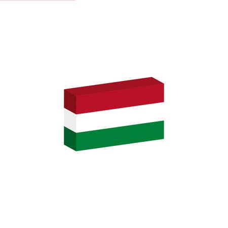 3D-vlag van Hongarije