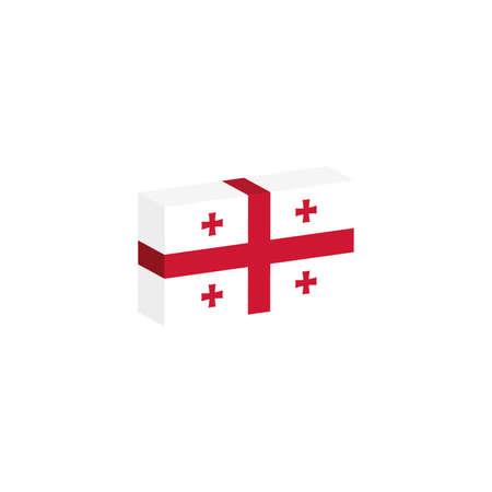 Georgia flag 3D illustration.