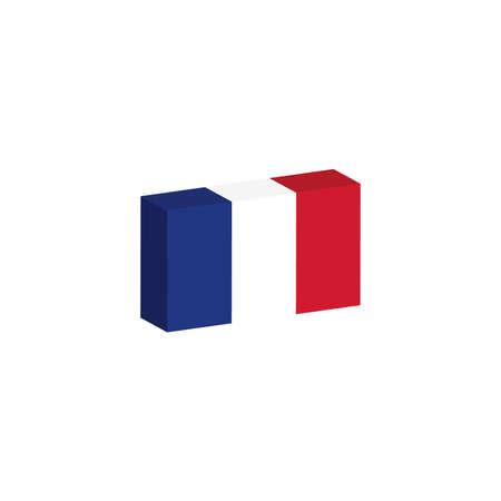 3D vlag van Frankrijk
