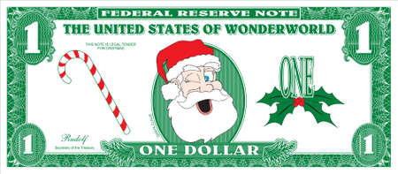 one dollar bill: Money for Christmas