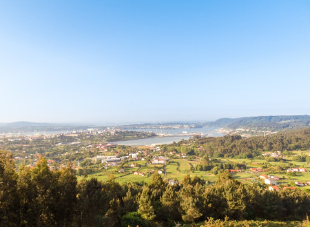 Views of the city of Ferrol from the hermitage of Chamorro